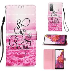 Beautiful 3D Painted Leather Wallet Case for Samsung Galaxy S20 FE / S20 Lite