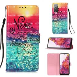 Colorful Dream Catcher 3D Painted Leather Wallet Case for Samsung Galaxy S20 FE / S20 Lite