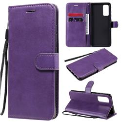 Retro Greek Classic Smooth PU Leather Wallet Phone Case for Samsung Galaxy S20 FE / S20 Lite - Purple