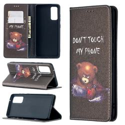 Chainsaw Bear Slim Magnetic Attraction Wallet Flip Cover for Samsung Galaxy S20 FE / S20 Lite