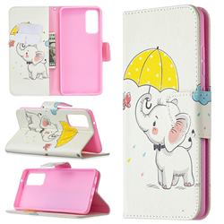 Umbrella Elephant Leather Wallet Case for Samsung Galaxy S20 FE / S20 Lite