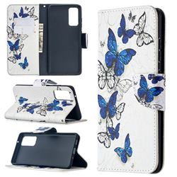 Flying Butterflies Leather Wallet Case for Samsung Galaxy S20 FE / S20 Lite