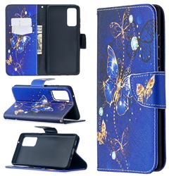 Purple Butterfly Leather Wallet Case for Samsung Galaxy S20 FE / S20 Lite