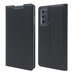 Ultra Slim Card Magnetic Automatic Suction Leather Wallet Case for Samsung Galaxy S20 FE / S20 Lite - Star Grey