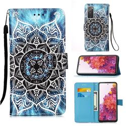 Underwater Mandala Matte Leather Wallet Phone Case for Samsung Galaxy S20 FE / S20 Lite