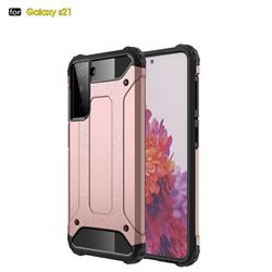 King Kong Armor Premium Shockproof Dual Layer Rugged Hard Cover for Samsung Galaxy S21 - Rose Gold
