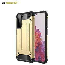 King Kong Armor Premium Shockproof Dual Layer Rugged Hard Cover for Samsung Galaxy S21 - Champagne Gold