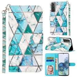 Stitching Marble 3D Leather Phone Holster Wallet Case for Samsung Galaxy S21 / Galaxy S30