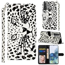 Leopard Panther 3D Leather Phone Holster Wallet Case for Samsung Galaxy S21 / Galaxy S30