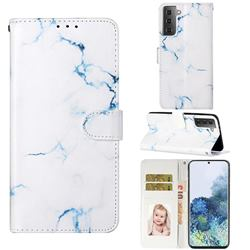 Soft White Marble PU Leather Wallet Case for Samsung Galaxy S21 / Galaxy S30