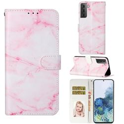 Pink Marble PU Leather Wallet Case for Samsung Galaxy S21 / Galaxy S30