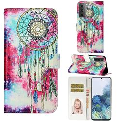 Butterfly Chimes PU Leather Wallet Case for Samsung Galaxy S21 / Galaxy S30