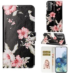 Azalea Flower PU Leather Wallet Case for Samsung Galaxy S21 / Galaxy S30