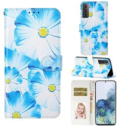 Orchid Flower PU Leather Wallet Case for Samsung Galaxy S21 / Galaxy S30