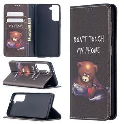 Chainsaw Bear Slim Magnetic Attraction Wallet Flip Cover for Samsung Galaxy S21 / Galaxy S30