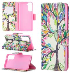The Tree of Life Leather Wallet Case for Samsung Galaxy S21