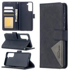 Binfen Color BF05 Prismatic Slim Wallet Flip Cover for Samsung Galaxy S21 - Black