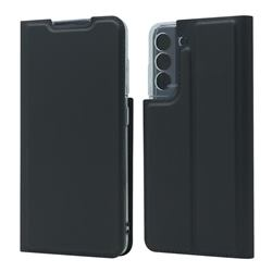 Ultra Slim Card Magnetic Automatic Suction Leather Wallet Case for Samsung Galaxy S21 FE - Star Grey