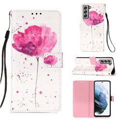 Watercolor 3D Painted Leather Wallet Case for Samsung Galaxy S21 FE