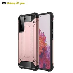King Kong Armor Premium Shockproof Dual Layer Rugged Hard Cover for Samsung Galaxy S21 Plus - Rose Gold