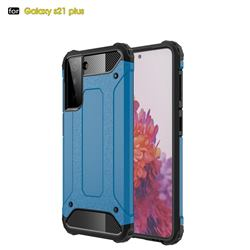 King Kong Armor Premium Shockproof Dual Layer Rugged Hard Cover for Samsung Galaxy S21 Plus - Sky Blue