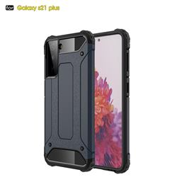 King Kong Armor Premium Shockproof Dual Layer Rugged Hard Cover for Samsung Galaxy S21 Plus - Navy