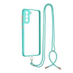 Necklace Cross-body Lanyard Strap Cord Phone Case Cover for Samsung Galaxy S21 Plus - Blue