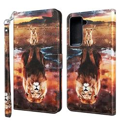 Fantasy Lion 3D Painted Leather Wallet Case for Samsung Galaxy S30 Plus / S21 Plus