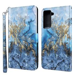 Milky Way Marble 3D Painted Leather Wallet Case for Samsung Galaxy S30 Plus / S21 Plus