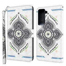 Mandala Totem 3D Painted Leather Wallet Case for Samsung Galaxy S30 Plus / S21 Plus