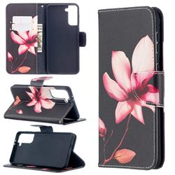 Lotus Flower Leather Wallet Case for Samsung Galaxy S21 Plus / S30 Plus