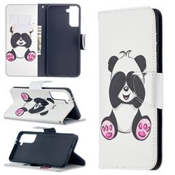 Lovely Panda Leather Wallet Case for Samsung Galaxy S21 Plus / S30 Plus