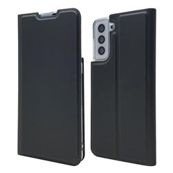 Ultra Slim Card Magnetic Automatic Suction Leather Wallet Case for Samsung Galaxy S21 Plus - Star Grey