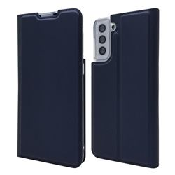 Ultra Slim Card Magnetic Automatic Suction Leather Wallet Case for Samsung Galaxy S21 Plus - Royal Blue
