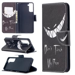 Crooked Grin Leather Wallet Case for Samsung Galaxy S21 Plus