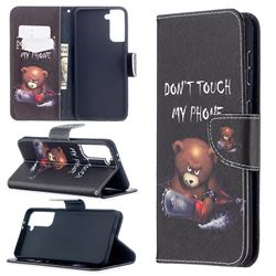 Chainsaw Bear Leather Wallet Case for Samsung Galaxy S21 Plus