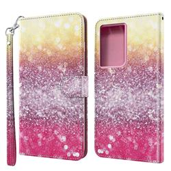 Gradient Rainbow 3D Painted Leather Wallet Case for Samsung Galaxy S30 Ultra / S21 Ultra