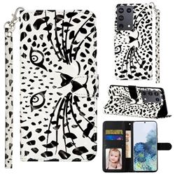 Leopard Panther 3D Leather Phone Holster Wallet Case for Samsung Galaxy S21 Ultra / S30 Ultra