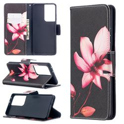 Lotus Flower Leather Wallet Case for Samsung Galaxy S21 Ultra / S30 Ultra