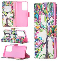 The Tree of Life Leather Wallet Case for Samsung Galaxy S21 Ultra