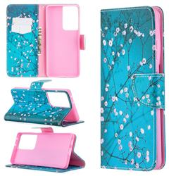 Blue Plum Leather Wallet Case for Samsung Galaxy S21 Ultra