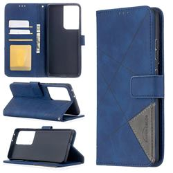 Binfen Color BF05 Prismatic Slim Wallet Flip Cover for Samsung Galaxy S21 Ultra - Blue
