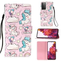 Angel Pony 3D Painted Leather Wallet Case for Samsung Galaxy S21 Ultra