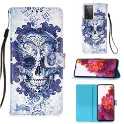 Cloud Kito 3D Painted Leather Wallet Case for Samsung Galaxy S21 Ultra