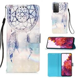 Fantasy Campanula 3D Painted Leather Wallet Case for Samsung Galaxy S21 Ultra