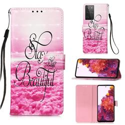Beautiful 3D Painted Leather Wallet Case for Samsung Galaxy S21 Ultra
