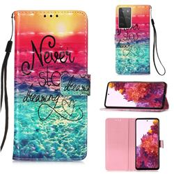 Colorful Dream Catcher 3D Painted Leather Wallet Case for Samsung Galaxy S21 Ultra