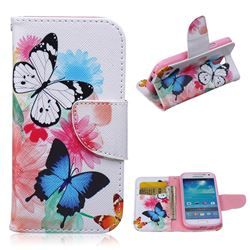 Vivid Flying Butterflies Leather Wallet Case for Samsung Galaxy S4 mini i9190 I9192 I9195