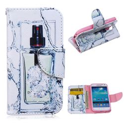Perfume Bottle Leather Wallet Case for Samsung Galaxy S4 mini i9190 I9192 I9195