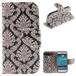 Totem Flowers PU Leather Wallet Case for Samsung Galaxy S4 Mini i9190